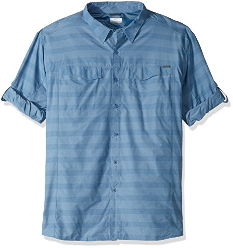Columbia Men's Big-Tall Silver Ridge Plaid Long Sleeve Shirt, Steel Stripe, 4XT by Columbia