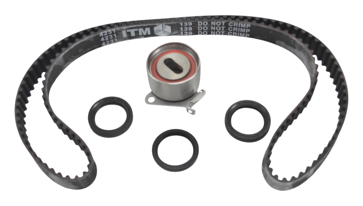 6G72//G6AT ITM Engine Components ITM139 Timing Belt Kit for 1987-2000 Mitsubishi//Dodge//Hyundai 3.0L V6