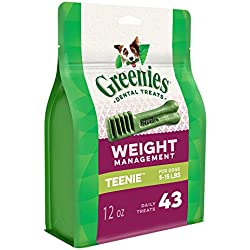 GREENIES Weight Management Dental TEENIE Dog Treats - 12 oz. 43 Treats