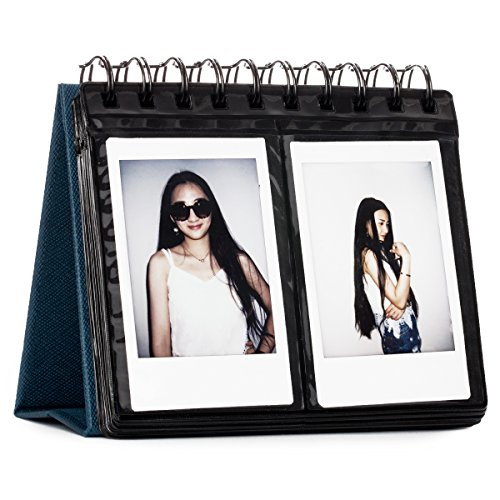 CAIUL 68 Pockets Desk Calendar Style Photo Album for Fujifilm Instax Mini 7s 8 8+ 9 25 26 50s 70 90 Films (Navy Blue) New 20 Animal Print