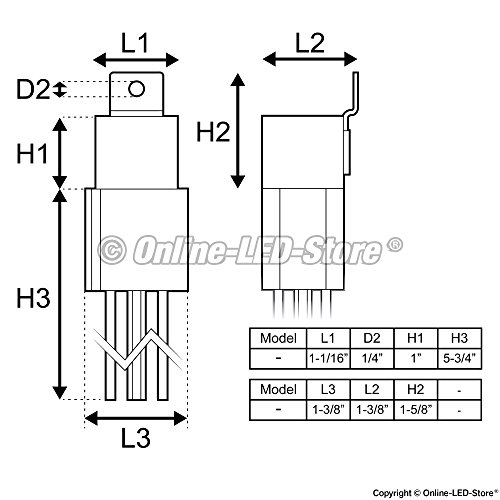 5 pack ols 12v 60  80 amp relay switch harness set
