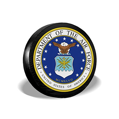 Department Air Force Seal - Rigg-Tire Cover Spare Tire Cover Seal of The Department of The Air Force Polyester Waterproof Dust-Proof Tire Protectors Fit for Trailer, Jeep,RV, SUV and Many Vehicle - 15 Inch