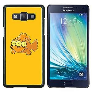 Queen Pattern - FOR Samsung Galaxy A5 A5000 A5009 - Funny 3 Eye Mutant Fish - Cubierta del caso de impacto con el patr???¡¯???€????€?????n