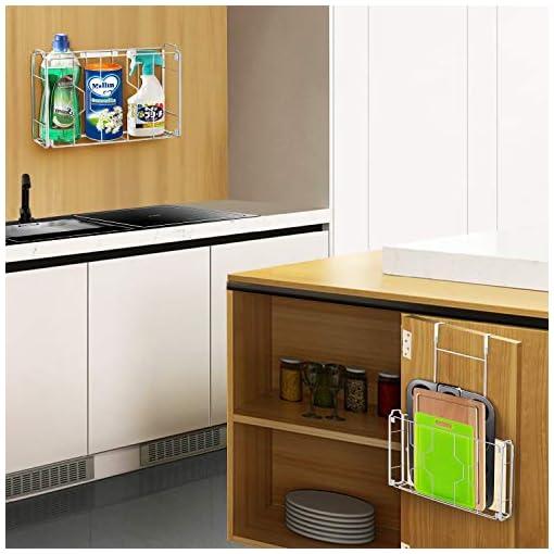 Cabinet Door Organizers 2 Pack- Simple Trending Over the Door/Wall Mount Cabinet Door Organizer Holder in Kitchen or Pantry for Cutting Board… cabinet door organizers