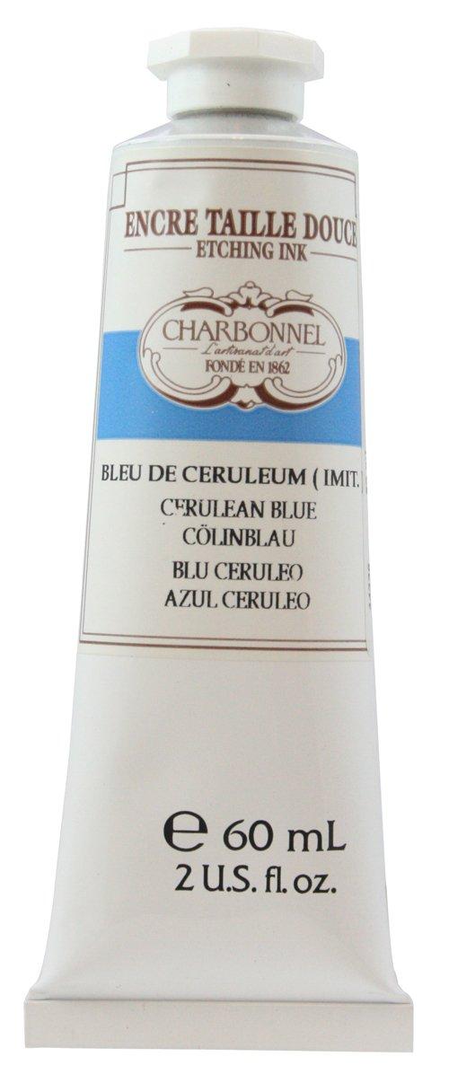 Lefranc and Bourgeois Charbonnel Etching Ink, Cölinblau Farbton, 60ml Tube - Kupferdruckfarbe Cölinblau Farbton Lefranc & Bourgeois 331882