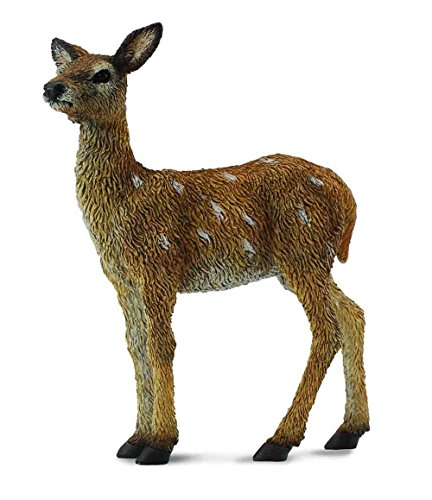 CollectA Woodlands Red Deer Calf Miniature Toy Figure - Authentic Hand Painted Model ()