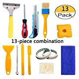 13 Piece Caulking Tool Kit,Caulk Finishing Handmade Tools Removal Tool Tile Floor Joint Repair Kit for Bathroom Kitchen and the Rest of the Household