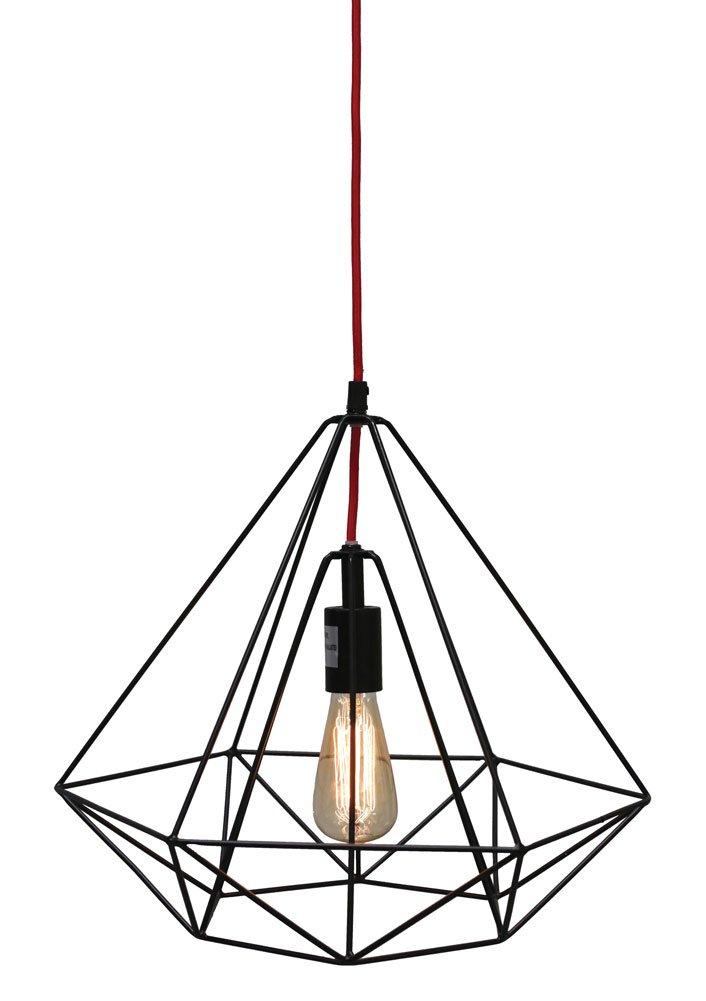 Creative Co-op DA4730 Metal Hanging Pendant Lamp, Black