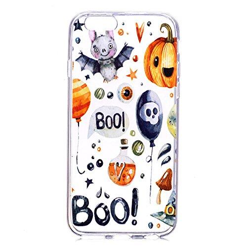 iPhone 6 Plus Case , iPhone 6S Plus Funda, Lspcase Transparente TPU Cáscara de Silicona Gel Ultra-Slim Fit Carcasa Tapa Case Cover Flexible Bumper Funda [Anti-Arañazos] [Anti-golpes] Accesorios Caja d De Halloween