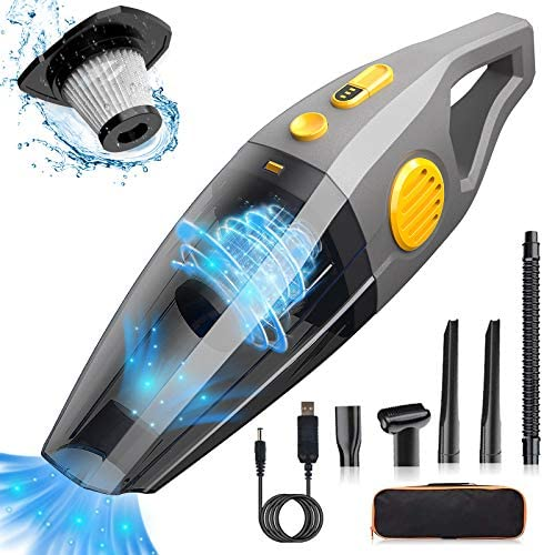 Wireless Car Vacuum Cleaner, 8000PA High Power Portable Handheld Vacuum 120W Wet and Dry Use Portable Cordless Vacuum Cleaner for Car Interior Cleaning