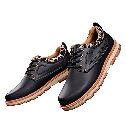 Business Shoelace Style Shoe Shoe Wear Men For Leather Black Sneaker Oxford resistant Casual WINGFOOTED New Vintage UPqxwXwS