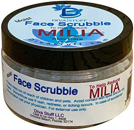 Milia Face Scrubbies,Helps Dissolve and Reduce Milia, With Salicylic Acid, Niacin, Retinol, Pumice and More, By Diva Stuff