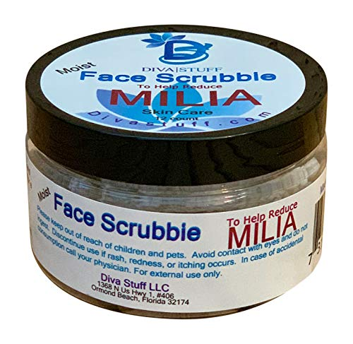 Milia Face Scrubbies,Helps Dissolve and Reduce Milia, With Salicylic Acid, Niacin, Retinol, Pumice and More, By Diva Stuff ()