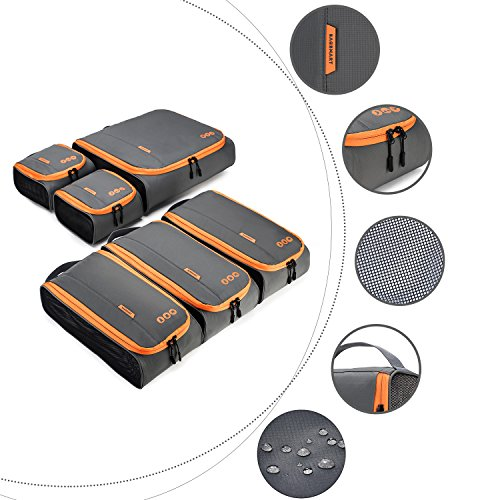 BAGSMART 6 Sets Packing Cubes 3 Sizes Portable Travel Luggage Organizer for Carry-on Accessories by BAGSMART (Image #9)