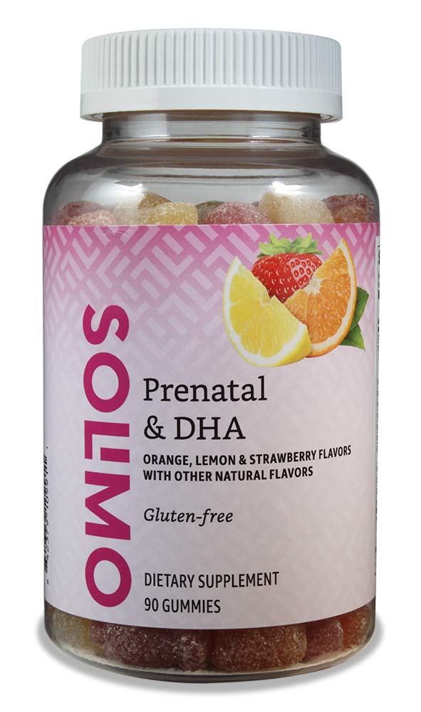 Amazon Brand - Solimo Prenatal Vitamins & DHA - Pregnancy Wellness - 90 Gummies (45-Day Supply)