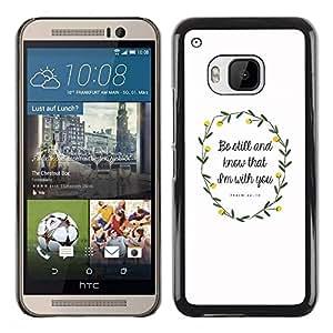 Be Good Phone Accessory // Dura Cáscara cubierta Protectora Caso Carcasa Funda de Protección para HTC One M9 // Spring Love Quote Easter Christian God