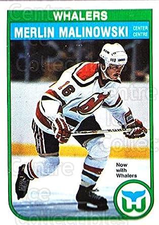 Amazon CI Merlin Malinowski Hockey Card 1982 83 O Pee Chee Base 128 Collectibles Fine Art