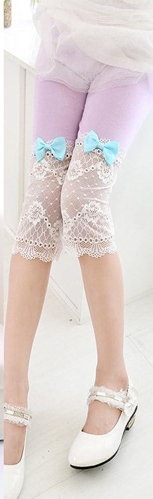 BOGIWELL Girls Cute Lace Capris Leggings Tights Summer Capri Pants NZHA276800011