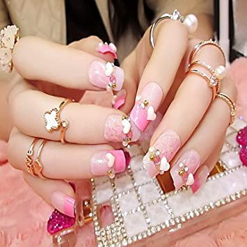 hjlhyl Manicura Finito novia postizas uñas de Patch falso clavo 24 Manicura productos Pesca uñas: Amazon.es: Belleza