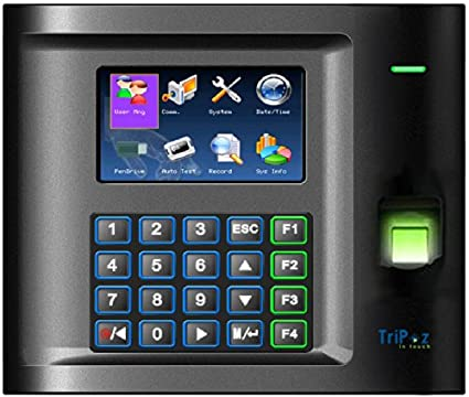 Amazon com : TriPoz US10C-ID Fingerprint + RFID Time Clock, Plus
