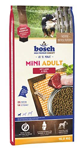 bosch HPC Mini Adult mit Lamm & Reis   Hundetrockenfutter für ausgewachsene Hunde kleiner Rassen (bis 15 kg)   1 x 15 kg