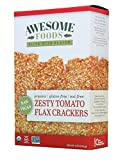 Zesty Tomato Flax Crackers, 4 Pack