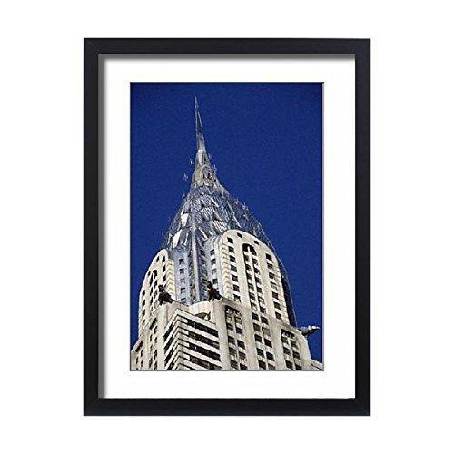 Framed 24x18 Print of Chrysler Building (Chrysler Vertical Doors)