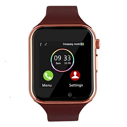YIIXIIYN Smart Watch Bluetooth Smart Watch Sport Fitness Tracker Wrist Watch Touchscreen with Camera SIM SD Card Slot Watch Compatible iOS Samsung LG ...