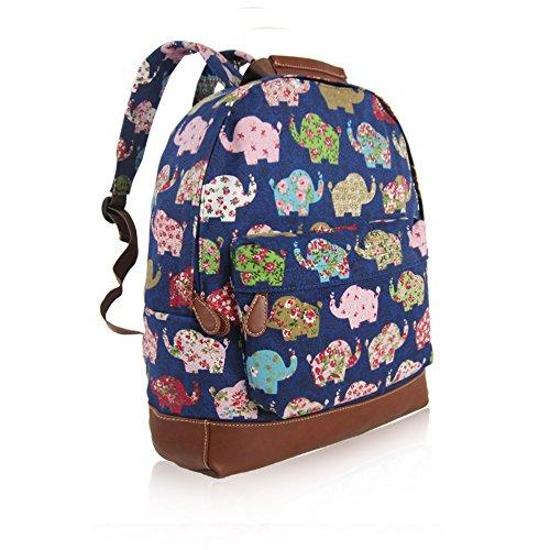 Craze London - Bolso mochila  de Lona para mujer D Blue