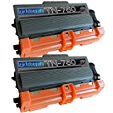 2 New Remanufactured TN750 Brother TN-750 Toner Cartridge, Office Central