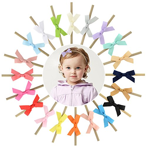 Boutique Ribbon Flower Bow Headband - YHXX YLEN 20Pcs Baby Girls 3