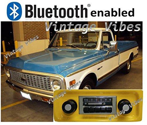 Bluetooth Enabled '67-'72 Chevy Truck 300w Slidebar AM FM Car ()