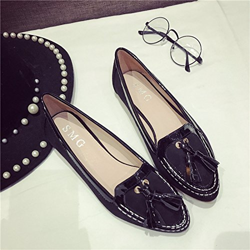 7c3792ae5b54 YFF New round flat shoes single shoes large flat women s women s women s  shoes