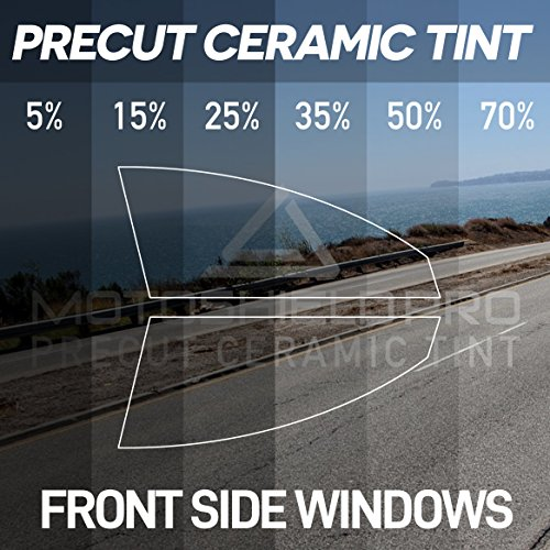 MotoShield Pro PreCut Ceramic Tint Film for Two Front Side Windows Any Tint ()