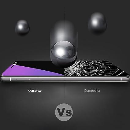 Villstar, protector de pantalla para Huawei Mate 9, bloquea la luz azul, dureza 9H, arco de borde 2.5D, resistente a las huellas, no deja burbujas, ...