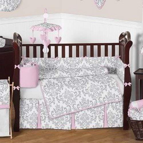 Amazon.com: Sweet Jojo Designs rosa y gris Chevron Zig Zag ...