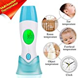 4 in 1 Multifunction Infrared Thermometer for Baby/Adult/Child Ear and Forehead Temperature,Fever alarm ,Time display and Auto power off function