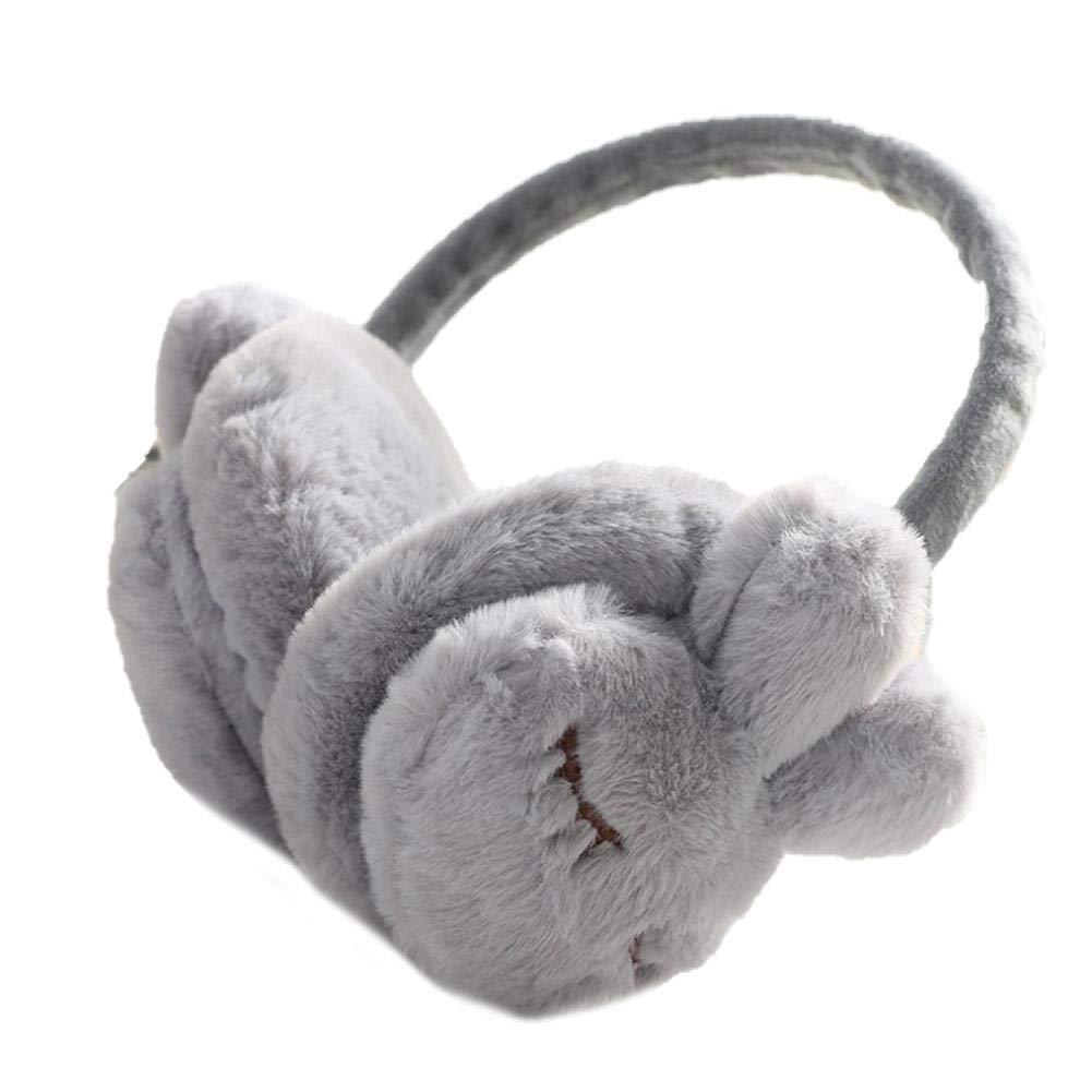 Warm earmuffs Winter cartoon bunny earmuffs cute earmuffs plush ear warm riding cold earmuffs foldable plush earmuffs