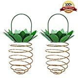 SAIPRO Led Pineapple Light, Decor Lights Pineapple Outdoor 30 LED Hanging Solar Lanterns Waterproof for Garden, Corridor, Courtyard, Party, Dating 2 Pack (Warm White)