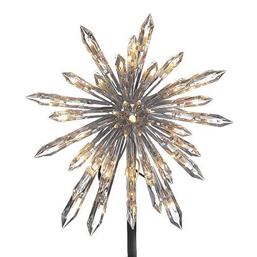 Lit Crystal Artificial Christmas Tree - Kurt Adler UL1883 UL 30-Light Crystal Snowflake Treetop