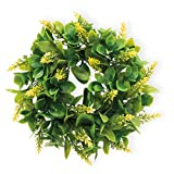 Celebrate the Home Decorative Foliage Wreath 9-Inches Yellow Wendy