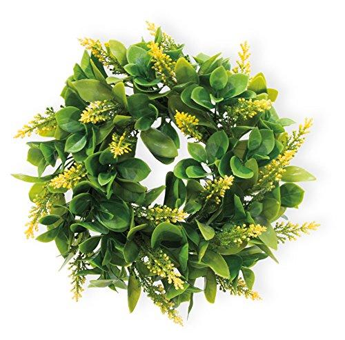 Celebrate the Home Decorative Foliage Wreath, 9-Inches, Yellow