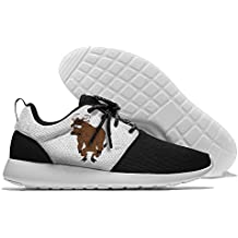 Funny Cartoon Lovely Yak Clipart Mens Womens Leisure Sports Shoes Fashion Walking Sneakers