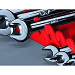 Ernst Manufacturing Gripper Wrench Organizer, 11 Tool, Black