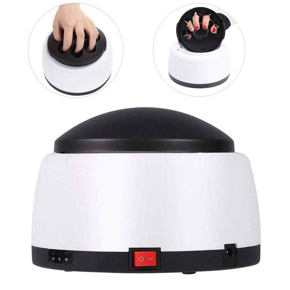 Nail Polish Remover Machine, Electric Steam Gel Removal System, UV Harmless Nail Art Tools, Gel Nail Polish Acrylic Steamer Remover, for Beauty Salon & Home Use, Black by WHHJW