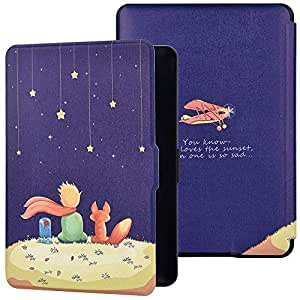 Case for Amazon Kindle Paperwhite 2/3 - Book Style PU+PC Leather Protective e-Reader Cover Folio Case