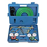 Gas Welding & Cutting Kit,Portable Professional Oxygen Torch Acetylene Welder Tool Set