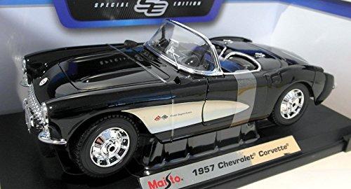 - Maisto Die Cast 1:18 Scale Black 1957 Chevrolet Corvette