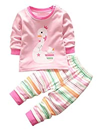 Unisex Baby Pajamas Toddler Sleepwear Clothes Tops/Pants Set size 1Y-4Y