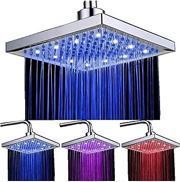 Pommeau de douche 8 pouces avec pommeau de douche color/é /à LED Shower Head